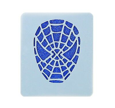 Spiderman Face Painting Stencil 7cm x 6cm 190micron Washable Reusable Mylar