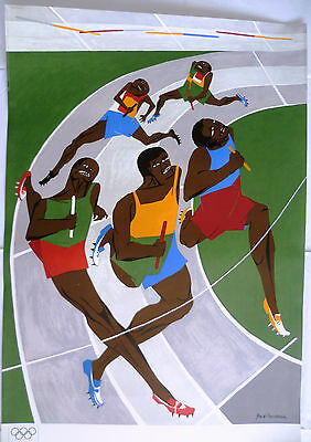 Jacob Lawrence Olympische Spiele München 1972 Reproduktions-Plakat