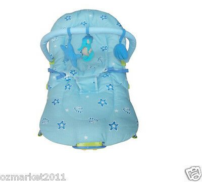 Fashion Blue Security Baby Music Vibration Swing Chair/Rocking Chair YB