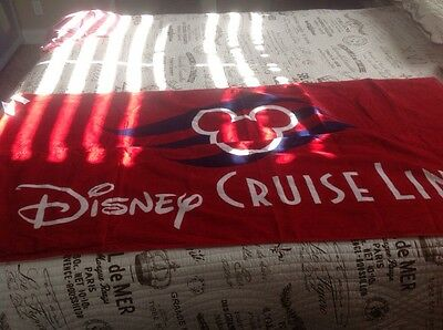 Disney Cruise Line Logo Beach Towel And Drawstring Bag All In One Dcl Mickey