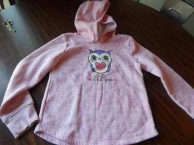 jumping beans pink girls graphic print pullover hoodie size 6