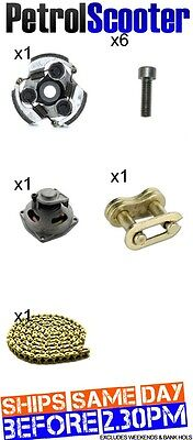 49cc Mini Moto Quad Bike Midi ATV 85 Link Gold Chain Clutch Clutchbell 6T 6mm