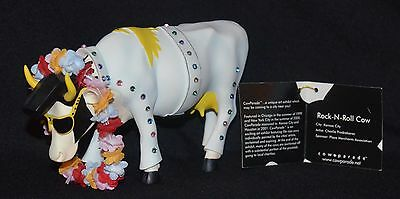 Cow Figurine - Cow Parade - #9137 Rock And Roll Cow -   (46)