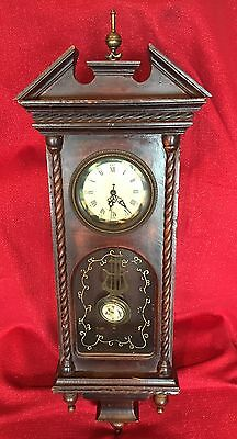 Vintage Vienna Style Wall Regulator Victorian Clock For Repair