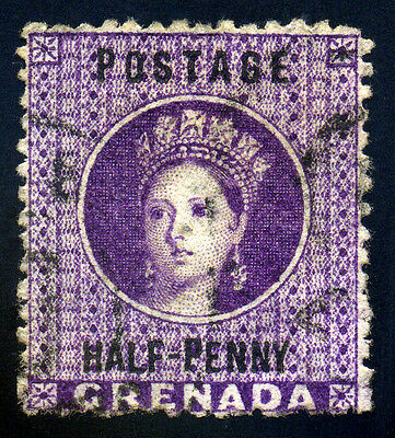 Grenada. 1881. 1/2d. Purple. SC# 8. SG# 20. VF Used