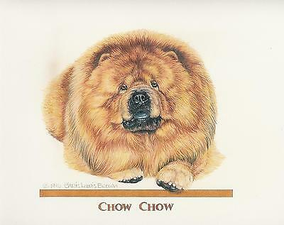 Chow Chow Red Original Art by Chris Lewis Brown - #522