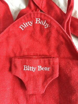 1996 Pleasant Company Bitty Baby & Bear Red CARRIER Back Pack RETIRED