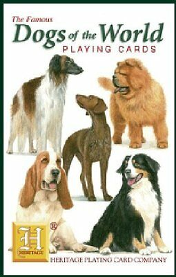 Dogs of the World Playing Cards by Heritage - New sealed pack
