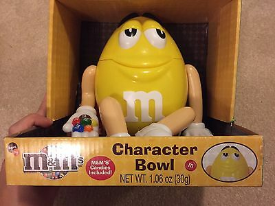 Yellow M&M Character Candy Bowl Collectible New in Box