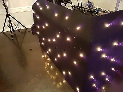 DJ Booth Professional Star Cloth Changeable Bulbs, not LED