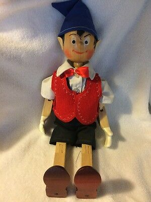 "VINTAGE WOODEN JOINTED PINOCCHIO 17"" Tall"