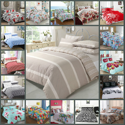 Duvet Quilt Covers with Pillowcases Exclusive Designs in Different Sizes