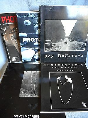 Vintage Lot Photography Books  7th 10th Ed  + Roy DeCarava Soft Cover Photo
