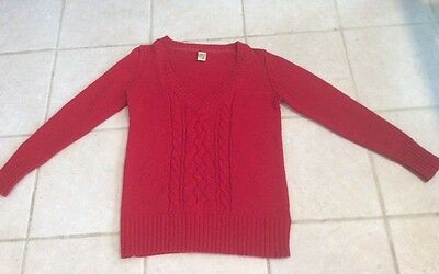 Old Navy Womens Red Maternity V-Neck Sweater Size M Guc!