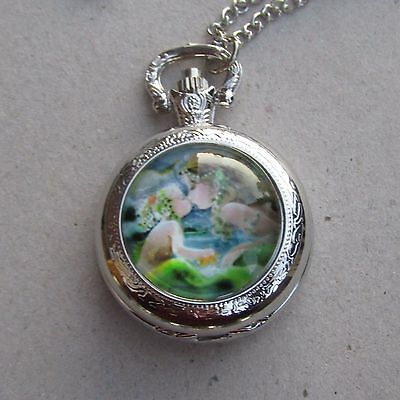 mother daughter mermaid  necklace pendant pocket watch locket design 2017 m