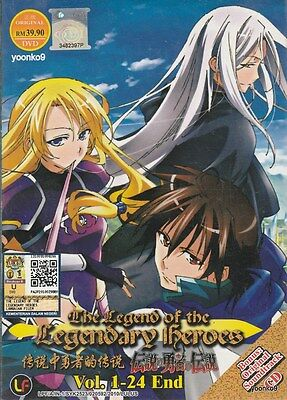 The Legend of the Legendary Heroes DVD Vol. 1~24 End + Ost Anime English Sub R0