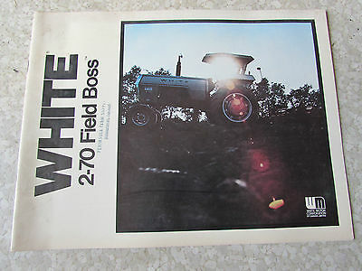 White Oliver Brochure Field Boss Tractor 2-70 1976