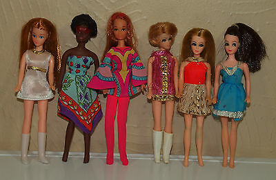 Vintage Topper Dawn Rock Flowers Diana LOT of 6 DOLLS All Dressed