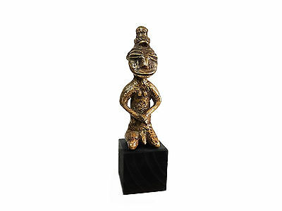 Mega Rare Antique African KULANGO CAST BRONZE FERTILITY FIGURE, IVORY COAST