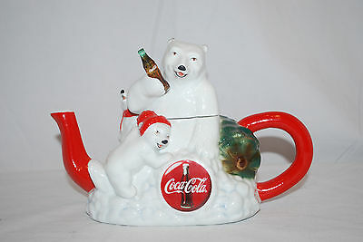 Limited Edition Coca-Cola Polar Bear Tea Pot No. 336 of 5000