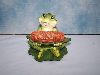 Welcome Frog Figurine, Great Gift for the Frog Collector, New