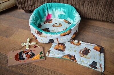 cuddle cup, little mat &a free homemade guinea plaque for Guinea pigs& hedghogs