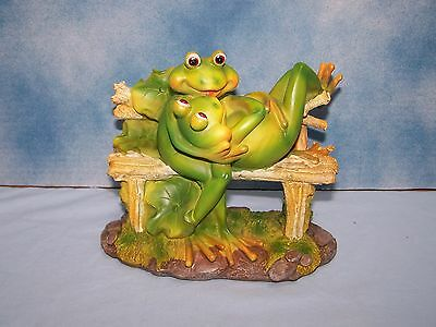 Frog Figurine, Couple on Bench, New in Original Box!