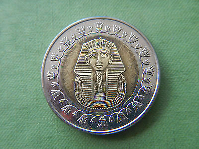 1 Pound Egyptian Coin King Tut Gold Mask Pharaoh 2007