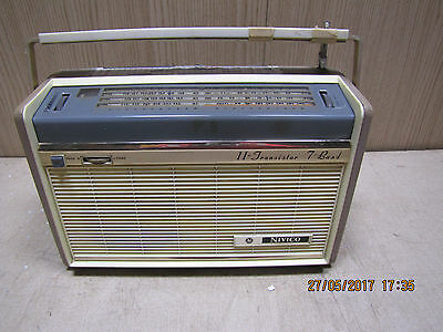 JVC Nivico 11A-7 7 band vintage 1960's transistor radio MW & SW bands