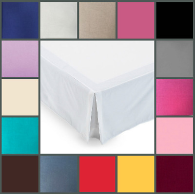Poly Cotton Platform Base Valance Sheets In Multiple Colors & Sizes