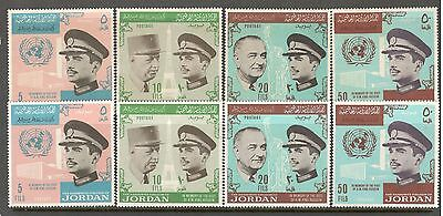 Jordan, 1965 Visit of King Hussein to France and USA four sets (MNH)