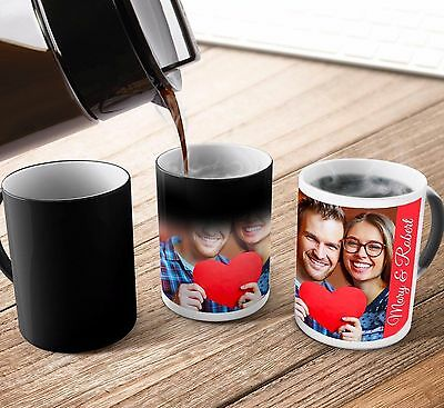 Personalised Heat Colour Changing Magic Mug - Great Gift - Photo Mug 3