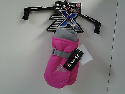 ZeroXposur Performance Mittens Youth size S / M Pink Water Resistant Thinsulate