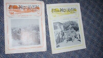 4 Issues from 1950s Iron Men Magazine - Steam Tractor Photos & Stories & Ads