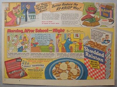 Ralston Cereal Ad: Morning, Noon and Night by Jefferson Machaner from 1940's