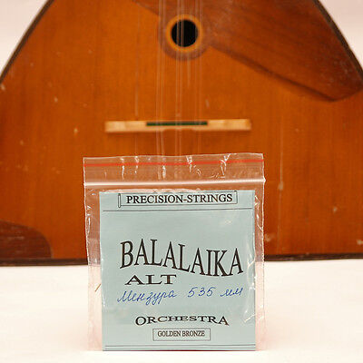 Three 3 string Alto BALALAIKA ALT Bronze Wound strings made in Ukraine Balalayka