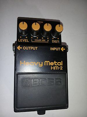BOSS HM-2 Heavy Metal Guitar Effects Pedal-Made in Taiwan-