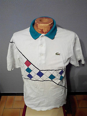 Ancien Polo T-Shirt Lacoste Devanlay T.4 Annees 80 Vintage