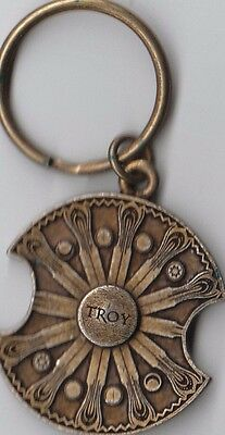 2004 Troy Movie Promo Shield Keychain - New Never Been Used - Rare - Brad Pitt