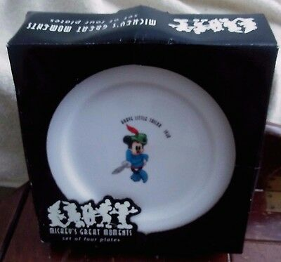 Disney Mickey's Great Moment's Set of 4 Plates - New Opened Box