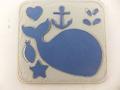 Stampin Up Sizzix Sizzlits Clearlits Happy Whale Die Cut