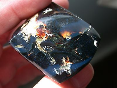 Beautiful BLUE Black Amber Gemstone Fully Polished LARGE 213 Carats RARE