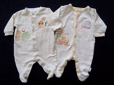 2 First Moments Unisex boy girl baby sleeper pajamas size 0 to 3 months