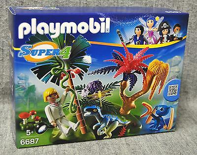 Playmobil 6687 Lost Island mit Alien und Raptor Agentin Dallas - Technopolis Neu
