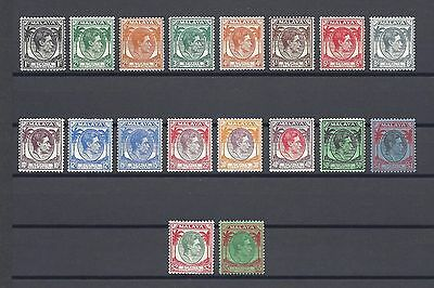 MALAYA/Straits Settlements 1937-41 SG278/98 MINT Cat £350