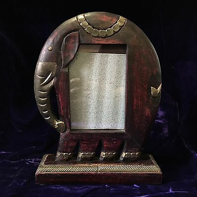 Wooden Artisan Hand Carved Elephant Photo Frame EXCELLENT