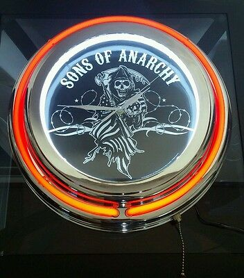 Sons Of Anarchy Neon Light Wall Clock