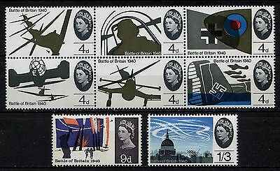 SG671-678 1965 Battle of Britain Set 6v Unmounted Mint