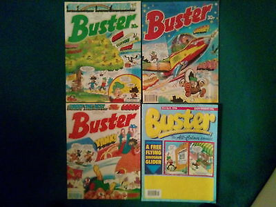 4 Off Buster Comics From June & Aug 89, Jan  & Apr 90 In Very Good Condition