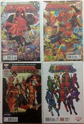 Deadpool #1,2,3 & 4 (2015 4th series Marvel) 4 x FN to NM condition issues